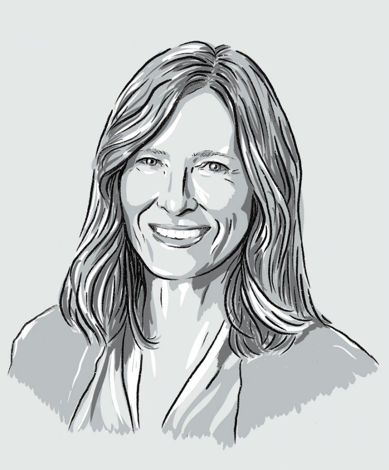Illustrated portrait of Katherine Possin.