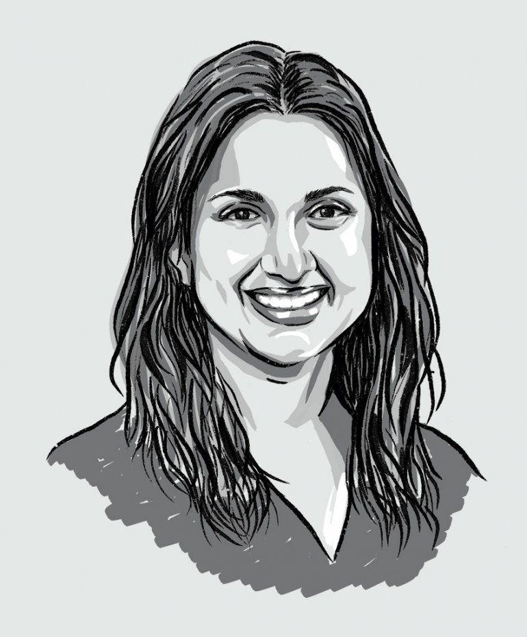 Illustrated portrait of Megha Garg.